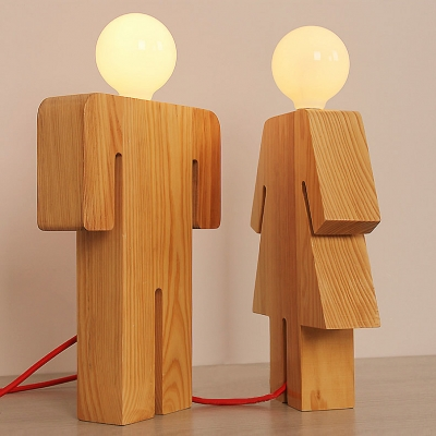 wood lamps designs novelty and lovely human shape wooden designer table lamp ... NYAUWHE