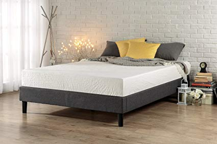Box Spring bed zinus essential upholstered platform bed frame / mattress foundation / no  boxspring needed OKYSEGR