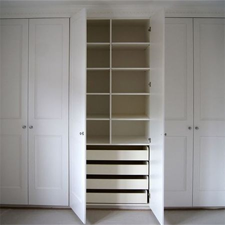 built-in cupboard we offer some easy diy tips on how to construct a basic fitted wardrobe FNVKGJY