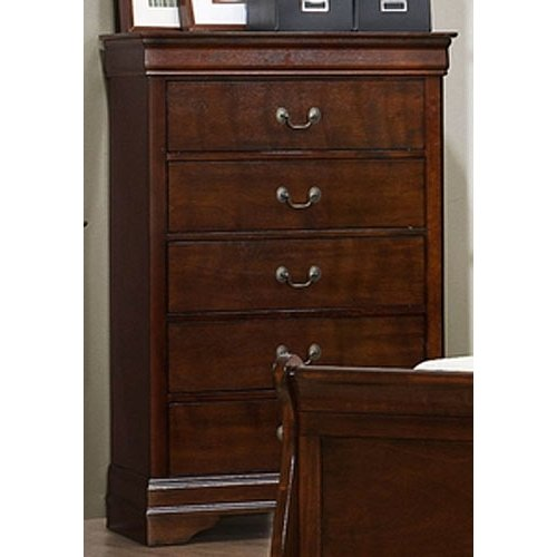 Chests of drawers ... traditional brown cherry chest of drawers - mayville HUCMZPX