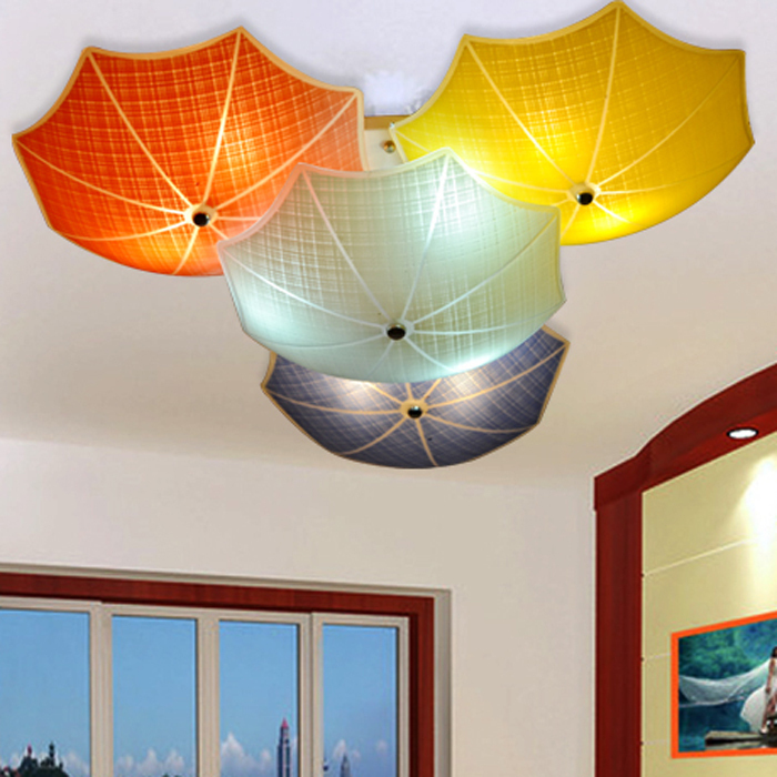 childrens room lighting modern children bedroom ceiling lamps multicolour umbrella glass lampshade kids  room lights e27 EWGWLXI