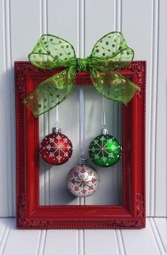 Christmas decoration ideas christmas picture frame wreath by oddsnendsbyaly on etsy by jacquelyn diy  christmas frames, GZYAVBR