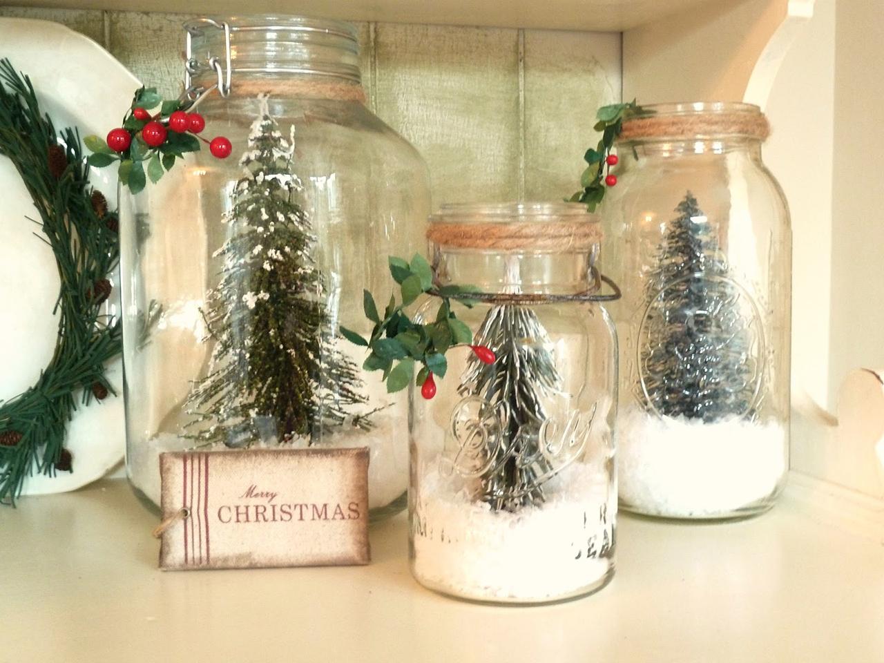 Christmas decoration ideas diy christmas snow globes EOQRZWX