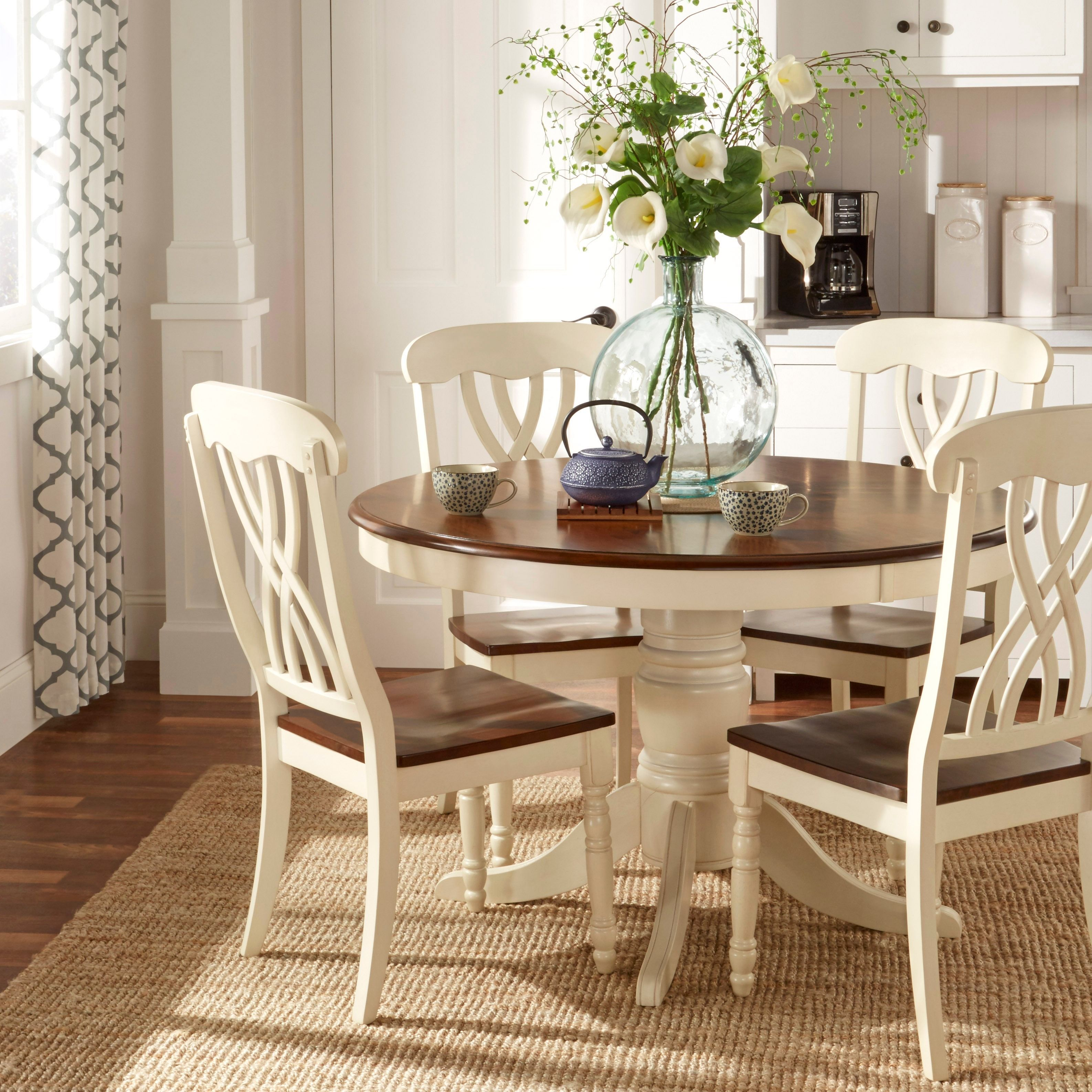 Country style furniture tribecca home mackenzie country style two-tone side chairs (set of 2)  (scroll back KPUDNHR