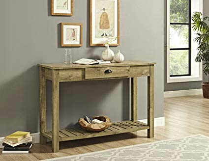 Country style furniture we furniture country style entry console table - 48, barnwood UEAYXSG