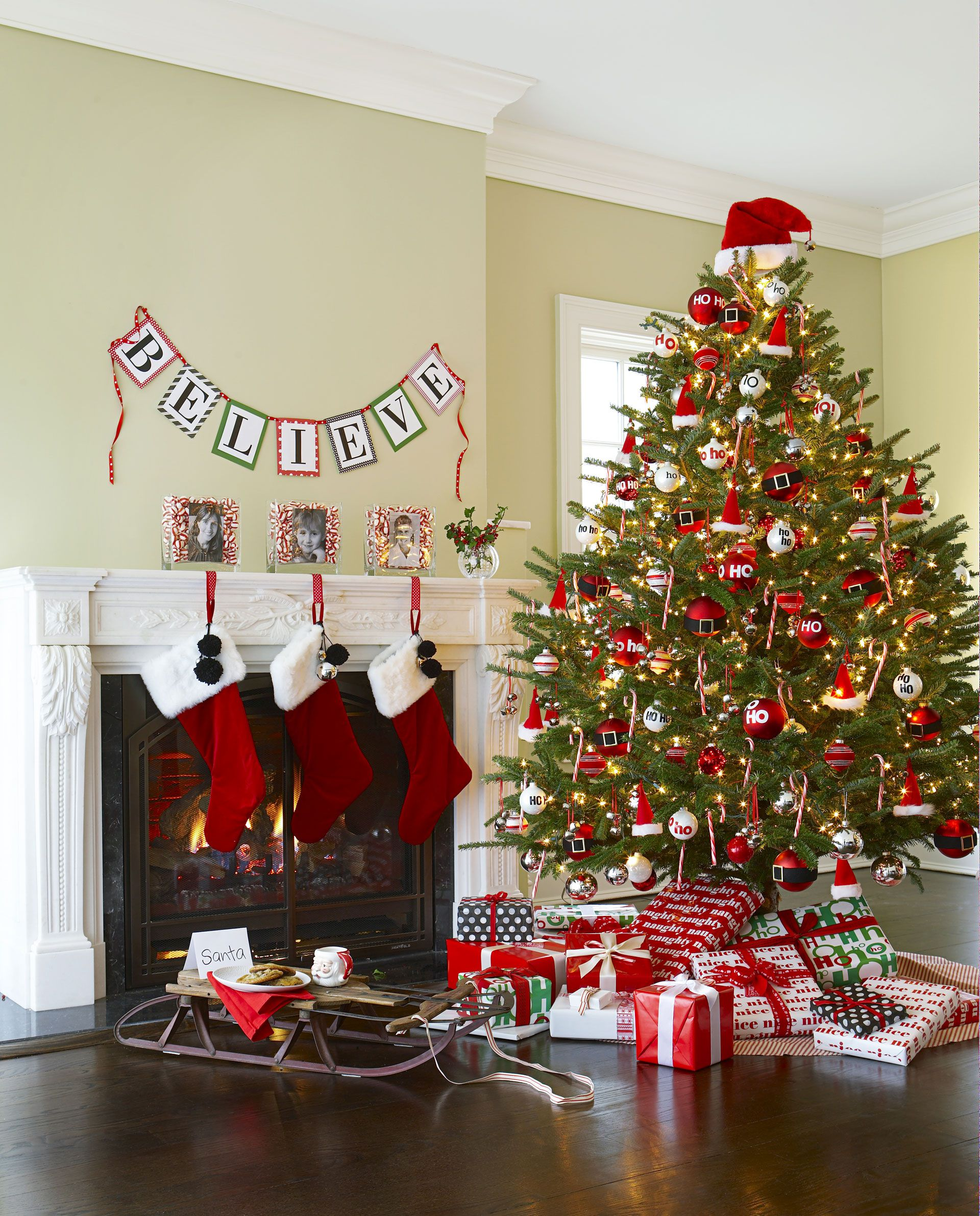 Decorate Christmas tree christmas tree red decorations AYOOWFX