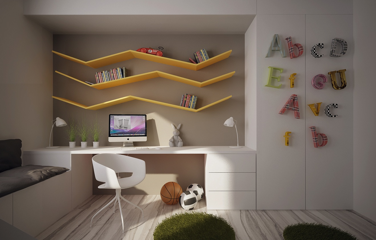 desk for childrens room 12 kidu0027s bedrooms with cool built-ins NRZUMVR