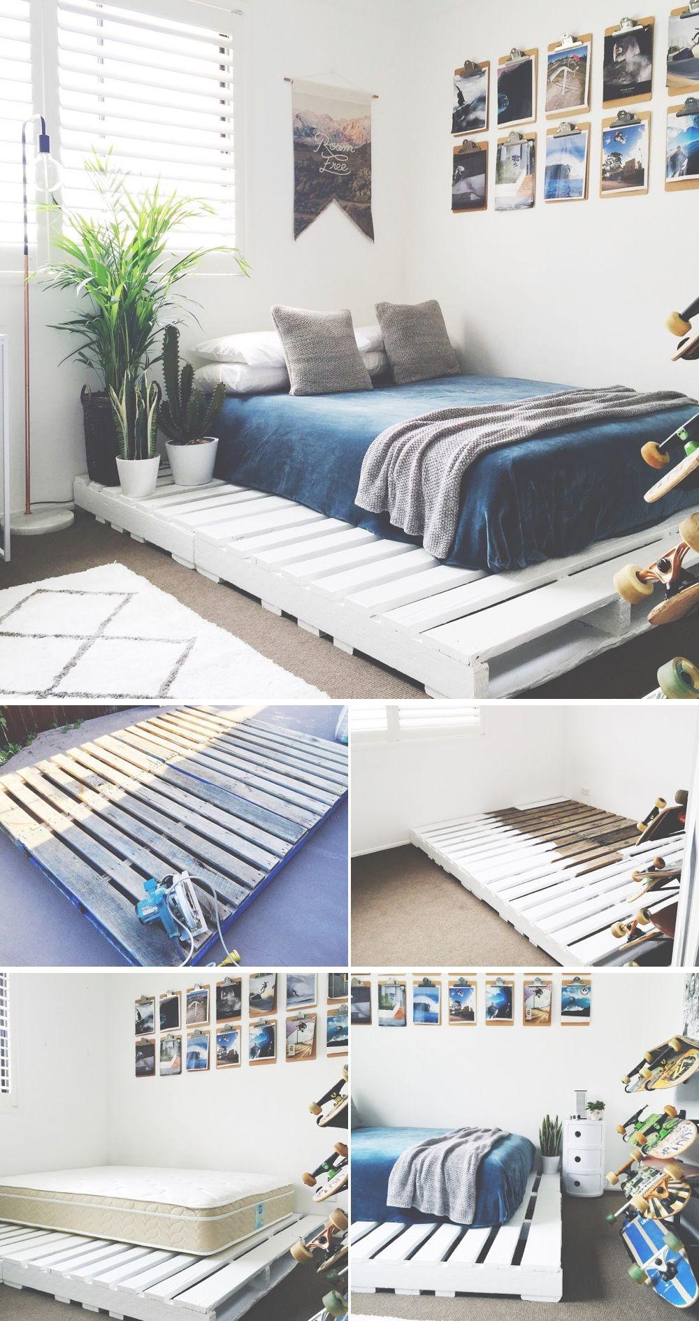 DIY pallet bed 15 diy bed frames pallet wood bed frame, gỗ pallet, pallet room, pallet UTNDZMB