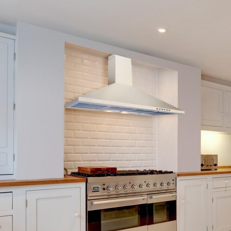 extractor hood kitchen 90cm cooker hood white. 90cm standard white premium range hood ZPQLQGE