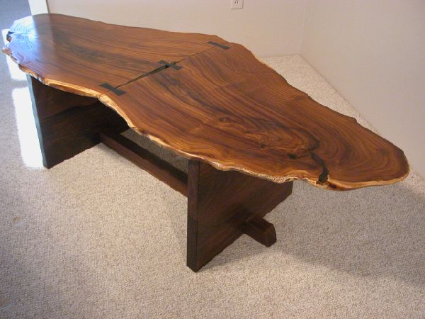 Furniture made of olive wood large rustic olive table PZUEFPN