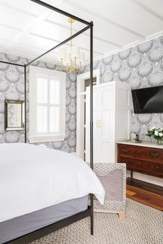 Guest Bed Inspiration guest room wall paper ideas! b berry interiors the guest, guest bed, guest LXRCODP