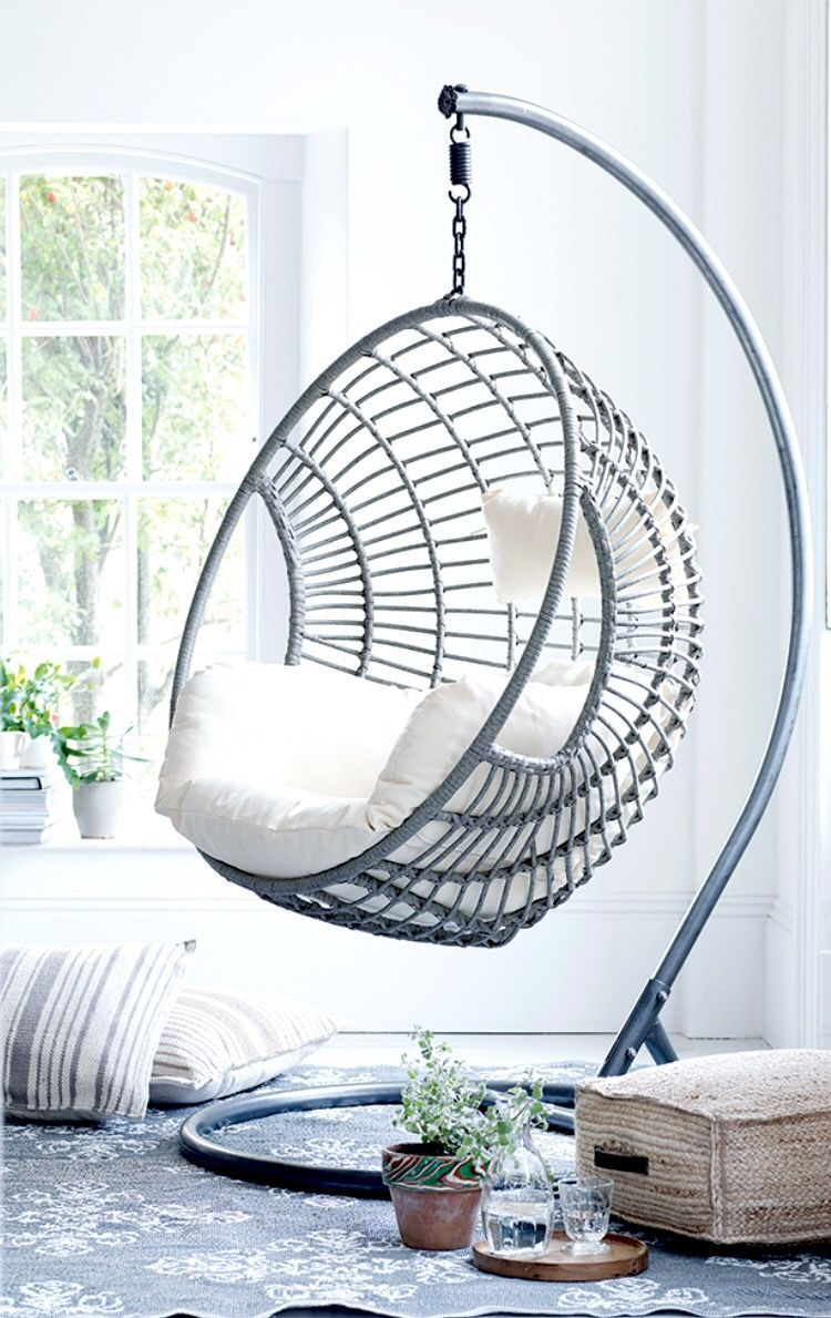 Hanging Chairs get creative with indoor hanging chairs - urban casa OWEQMKU