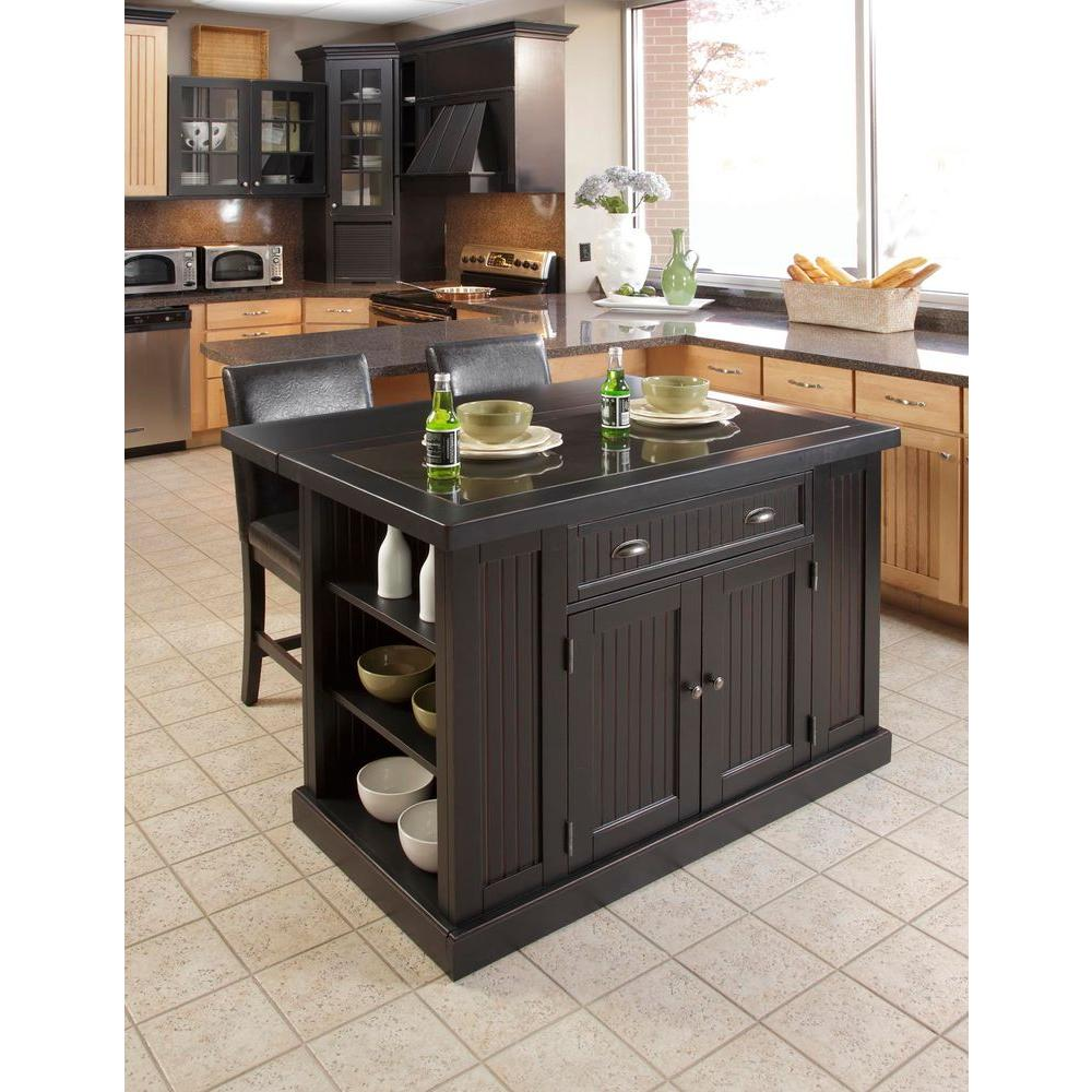 Kitchen Islands home styles nantucket black kitchen island with seating FPGMZIX
