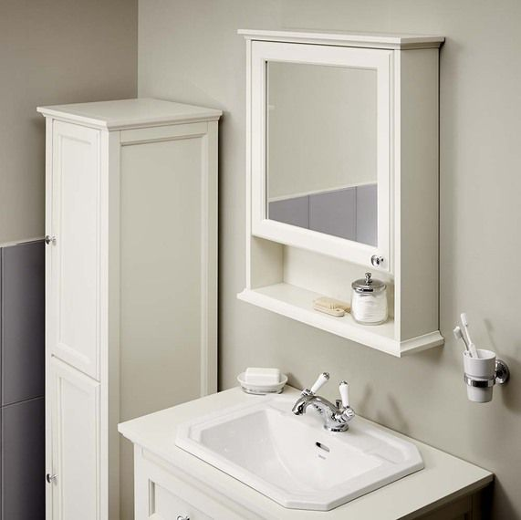 Mirror cabinet savoy old english white mirror cabinet image 1 OFZIMKO