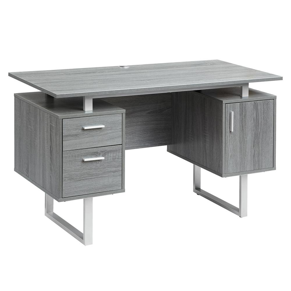 Modern Desk techni mobili gray modern office desk with storage GBHRUMM