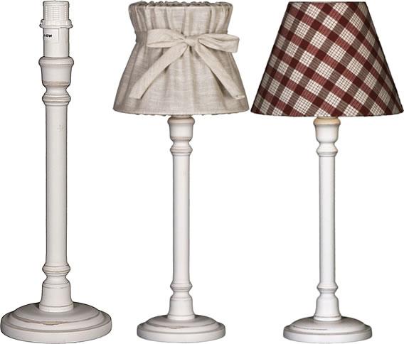 Nordika lamp nordika lamp stand gabriel shabby white, h 35 cm UEECWKP