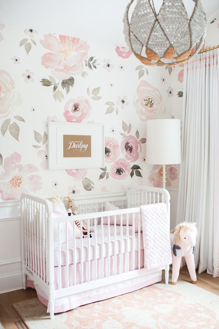 nursery wallpaper ideas holy floral wallpaper! monika hibbsu0027 floral nursery details. QFXNHNU