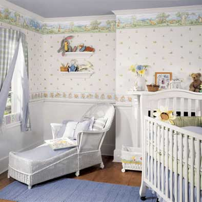 nursery wallpaper ideas patterned wallpaper. the wallpaper you pick for the room should be  complementary to MHVKMYH