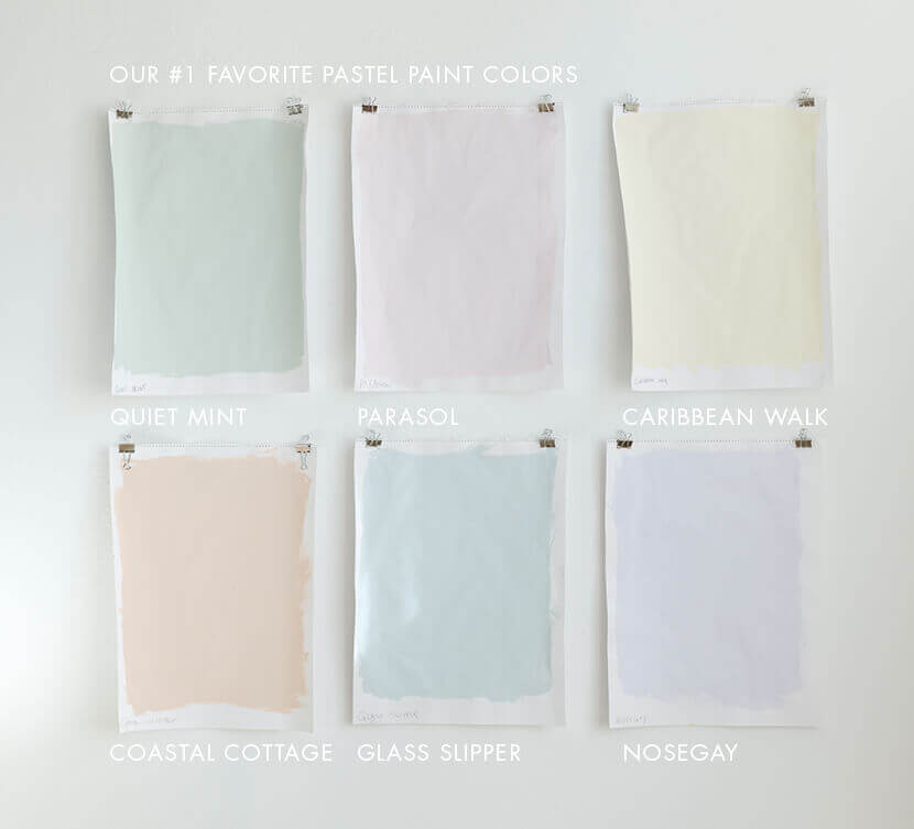 pastel color wall paint emily hendersons favorite pastel paint colors VYSQNQL