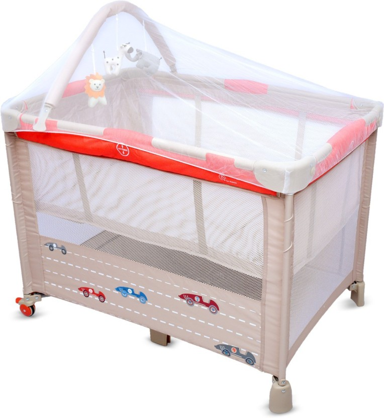 r for rabbit hide and seek - smart folding baby bed cum cot cthsrb1 YTSDYSO