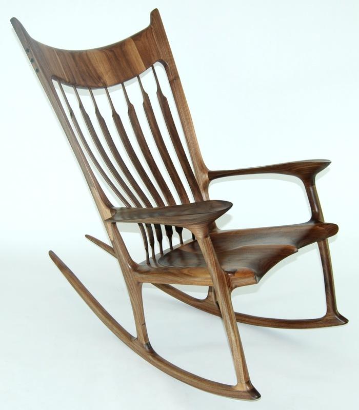 Rocking Chair Inspiration walnut and zebrawood rocking chair HTXJLNN