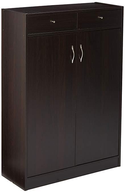 Shoe cabinet 247shopathome 6138 five shelf shoe storage cabinet, cappuccino NZOTUSH