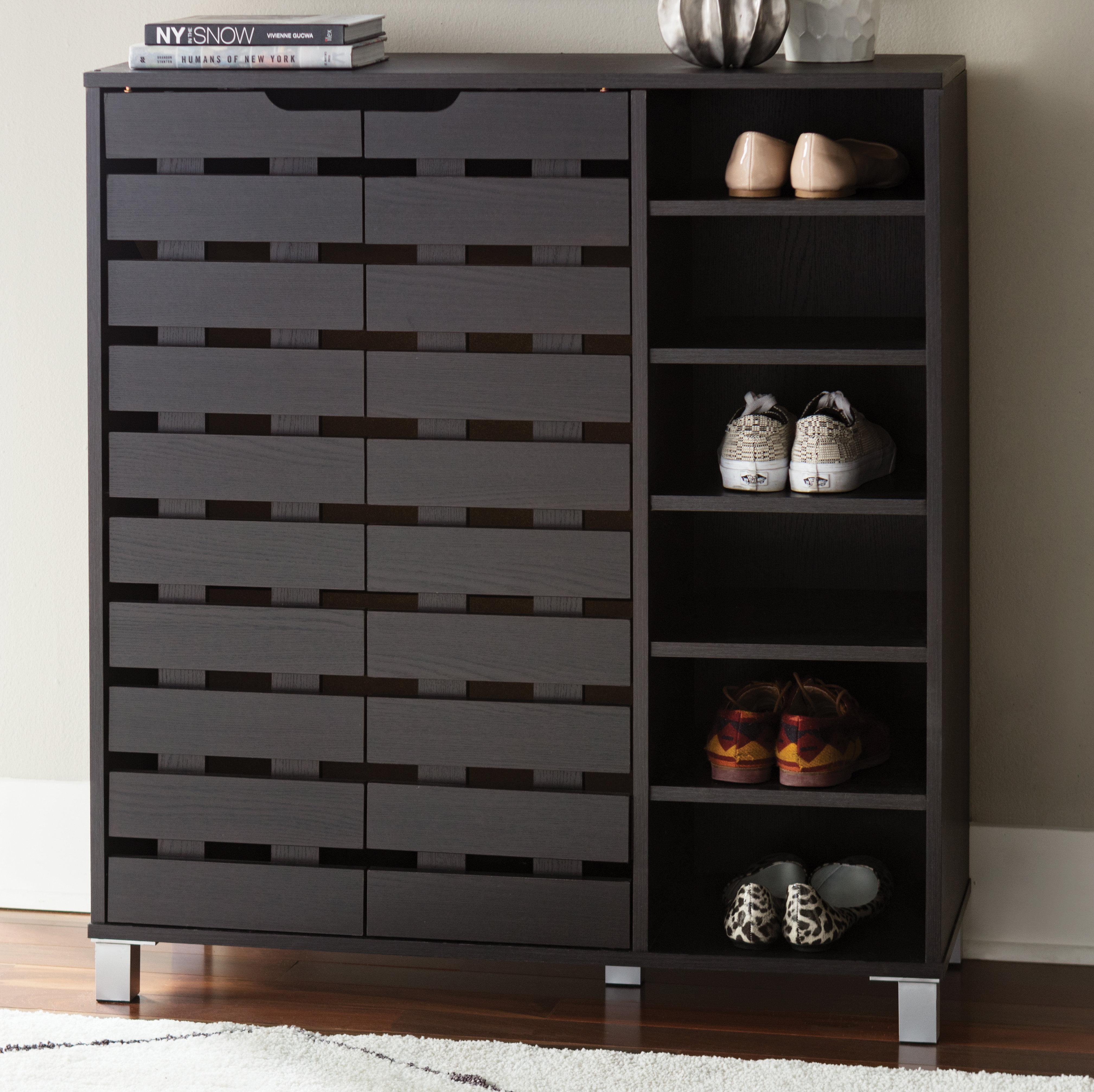 Shoe cabinet zipcode design 24-pair shoe storage cabinet u0026 reviews | wayfair NCVIRAS