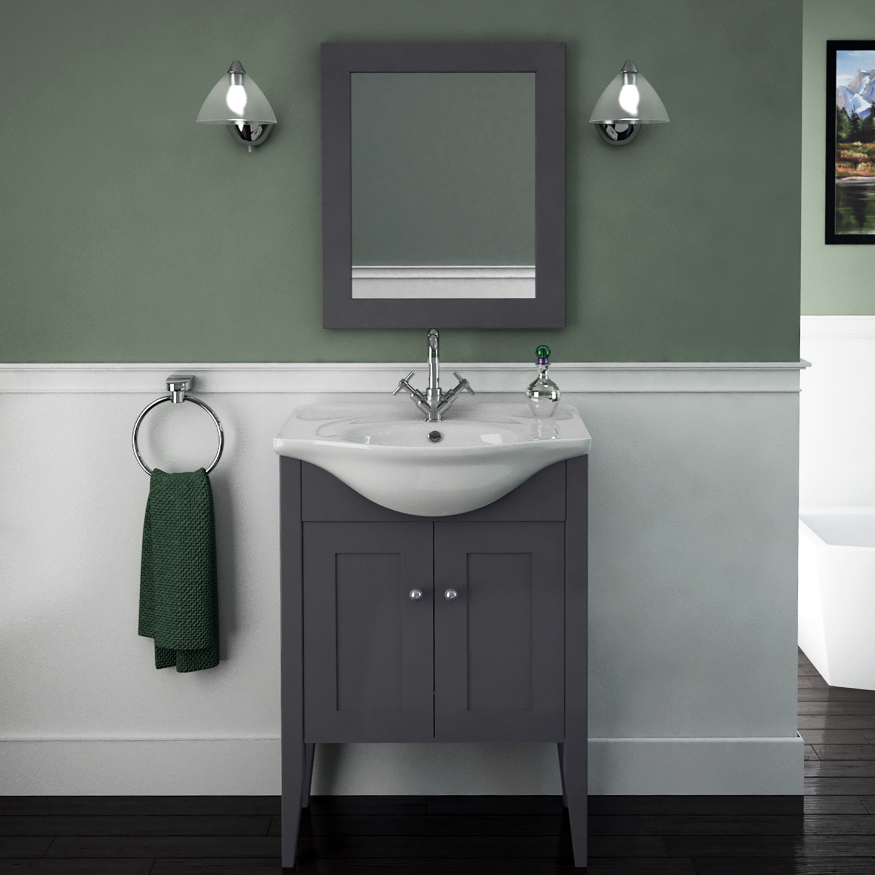 vanity unit with basin carolla vanity unit and basin (charcoal grey) buy online at bathroom city UVAABED