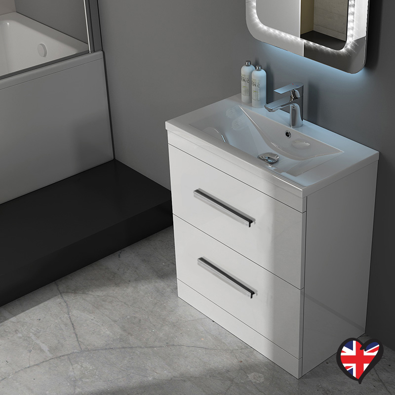 vanity unit with basin patello 60 white vanity unit and basin 2 draws curved ellegant and stylish FPFRLHM