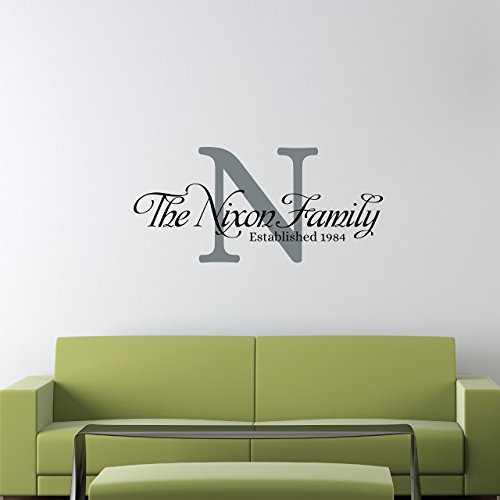 wall decal personalized custom family name wall decal - personalized name wall sticker - custom  name AOOTBAO