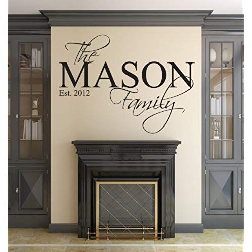 wall decal personalized family name wall decal custom personalized monogram est year living room  decor (40 OKPXKLM