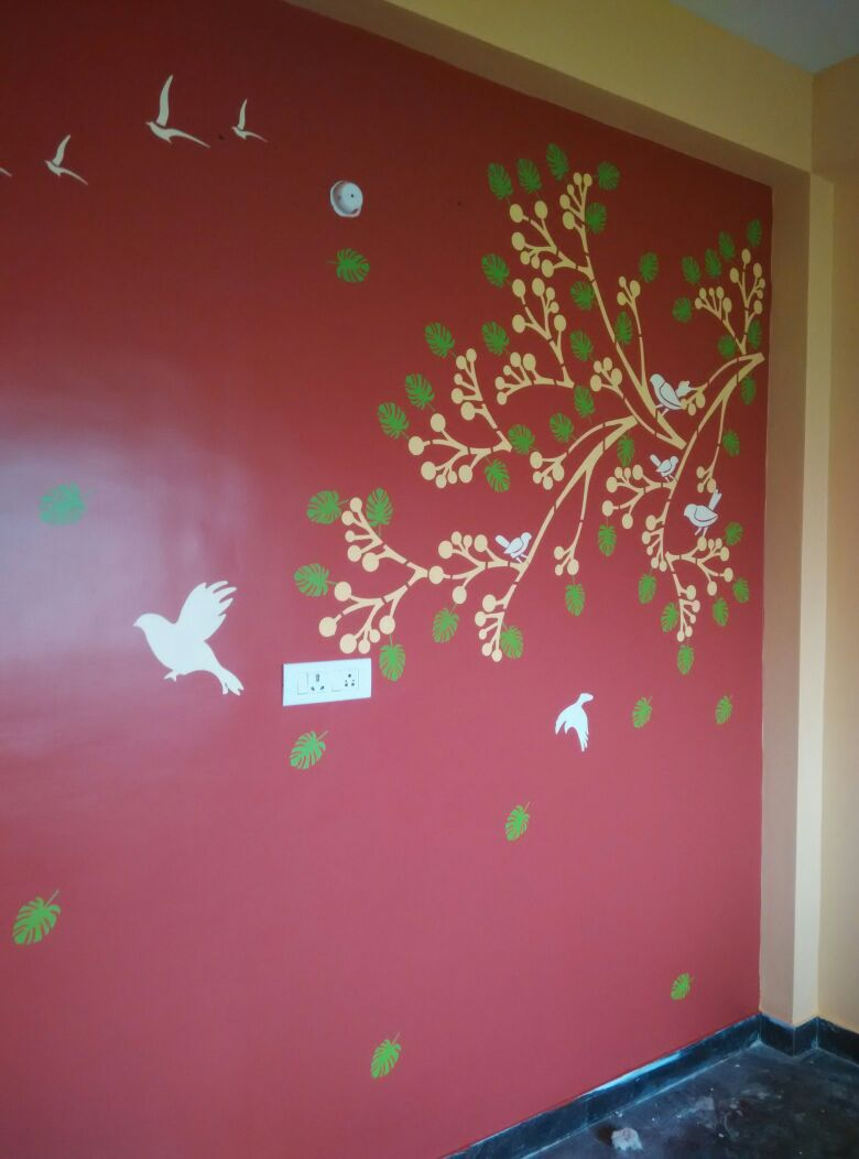 Wall design stencil works pd4 wall design painting XJWYEPC