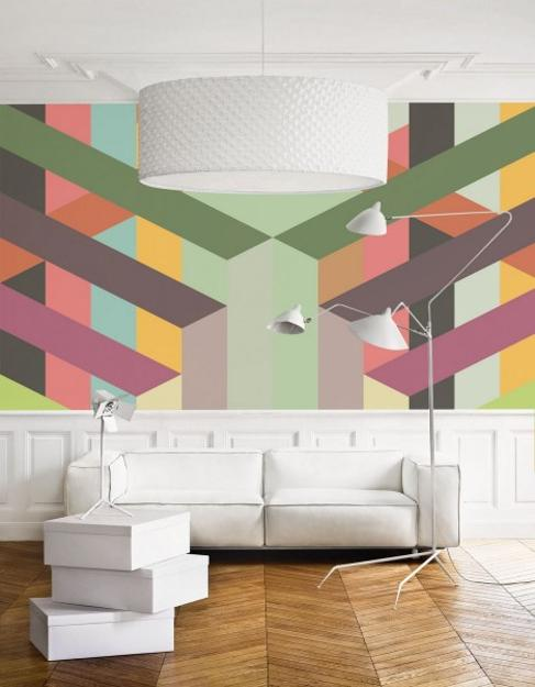 wall murals modern colorful modern wallpaper, prints and wall murals in muted colors AOSFIDG