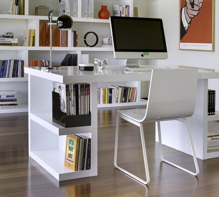 white modern home office furniture SSCTJON