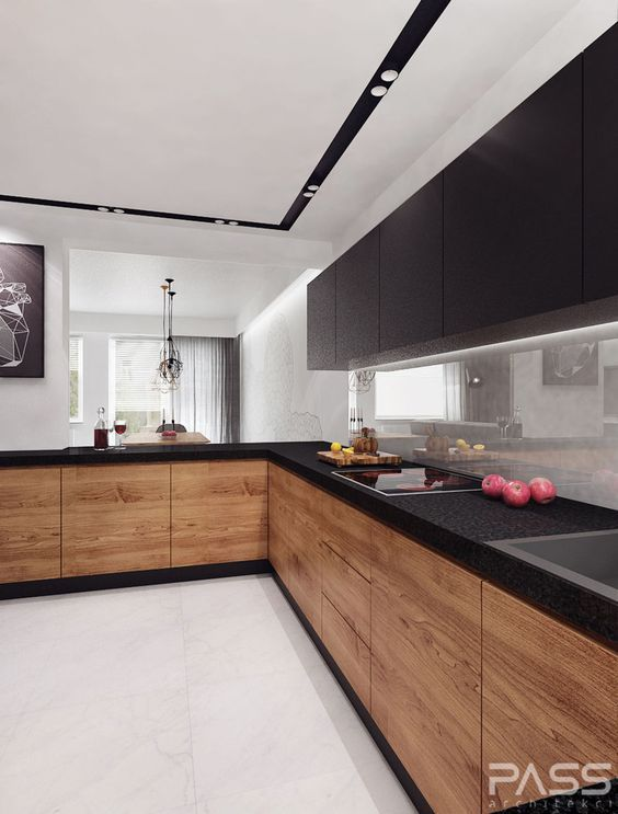 15 trendy-looking modern wood kitchens HKDUAQF