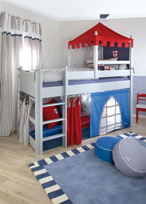Beds for boys boys bed/ knightu0027s castle cabin bed / designer mid sleeper beds NWALJKA