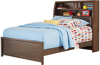 Beds for boys santa cruz cherry 3 pc full bookcase bed NEFFUOV