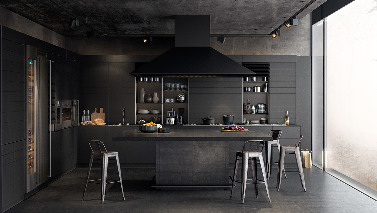 Black Kitchens: Pictures & Ideas
