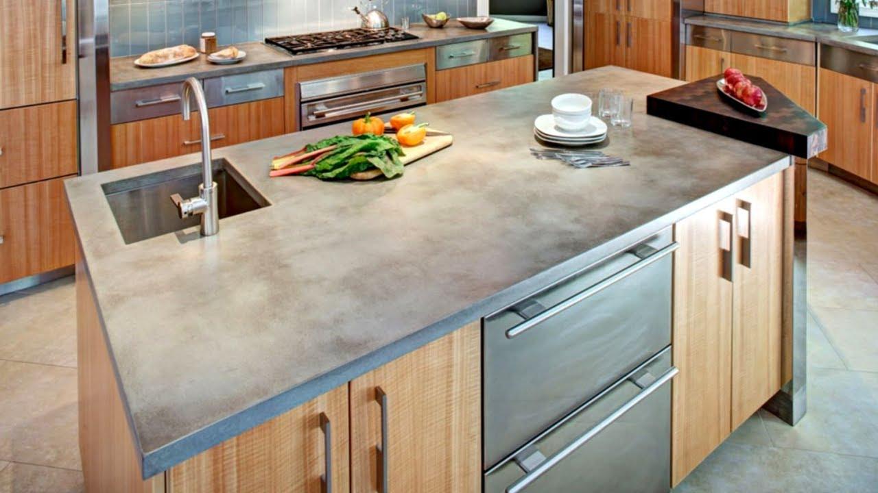 Concrete worktop in the kitchen 28 concrete countertop ideas GOWJXHU