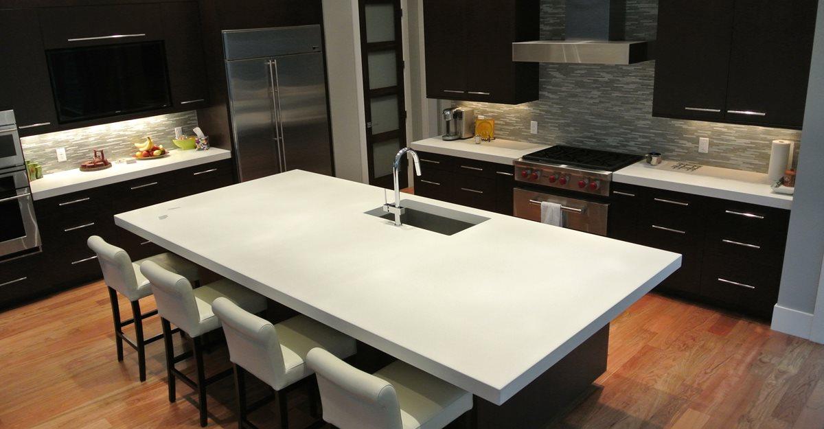 Concrete worktop in the kitchen concrete countertop white MDREFKT