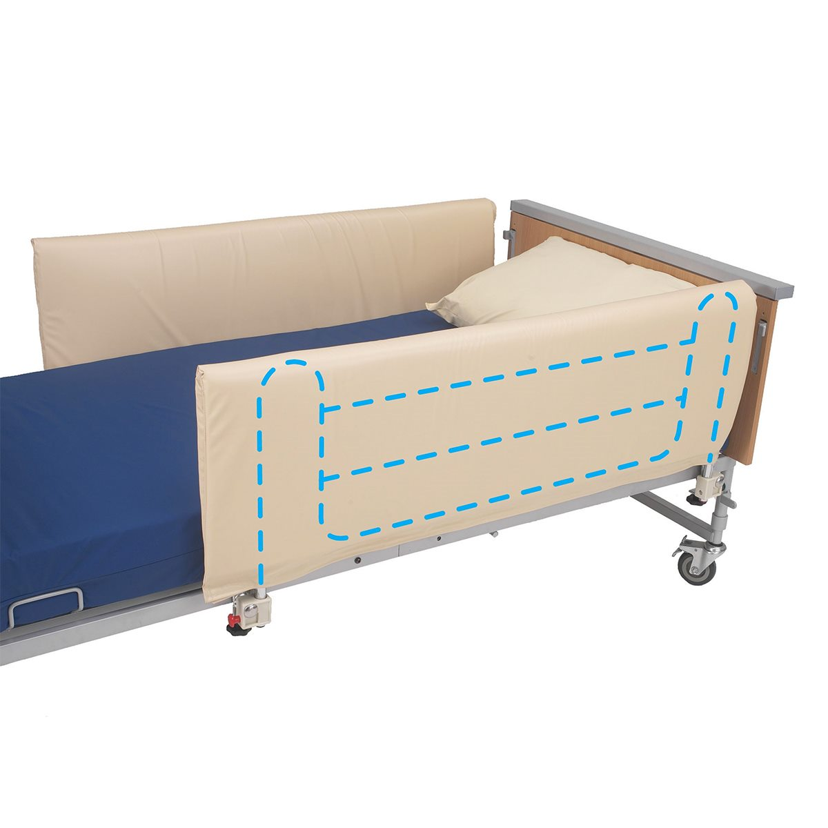 Cots with side protection cot side bumper for 3 or 4 bar rails QCWIERY