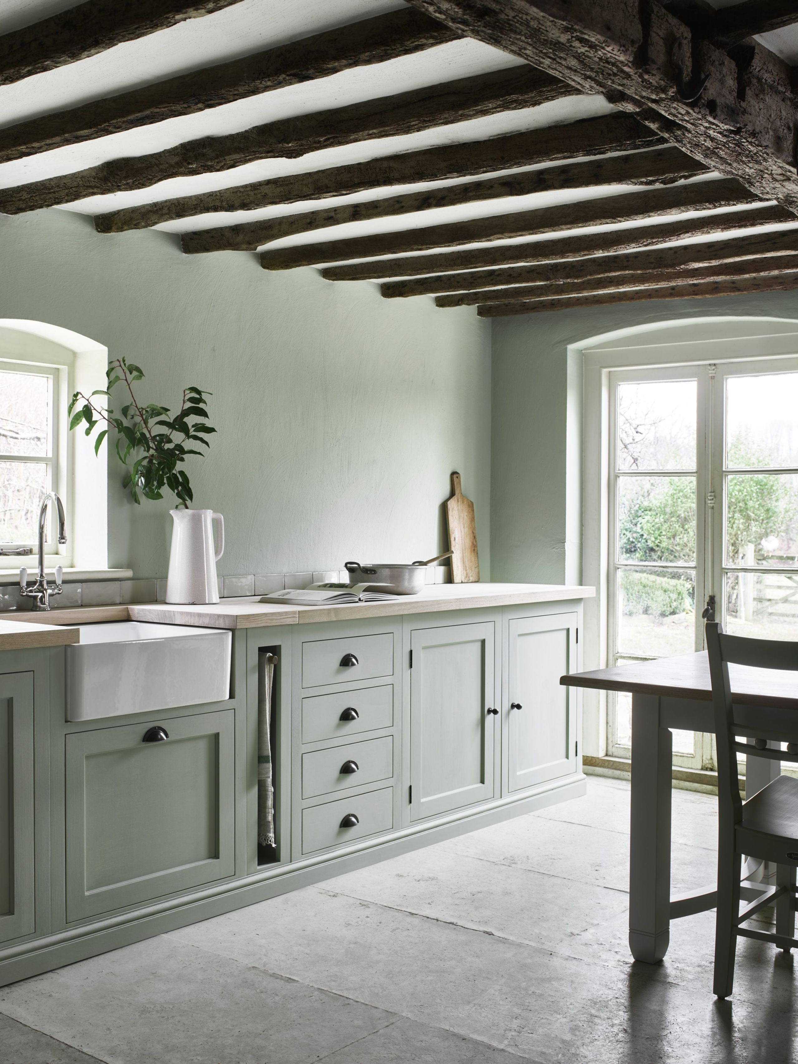 country kitchens neptune henley kitchen hand-painted in sage from £14,000 GLSGSSW