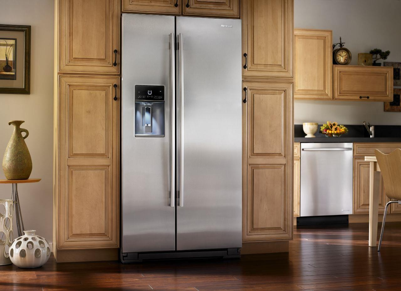 Freestanding refrigerator ... jenn-air sidexside refrigerators72u201d counter-depth freestanding  refrigerator QTSYSLO