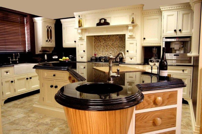 Granite kitchen worktop kashmir white granite worktop. brown antique IXUSEPZ