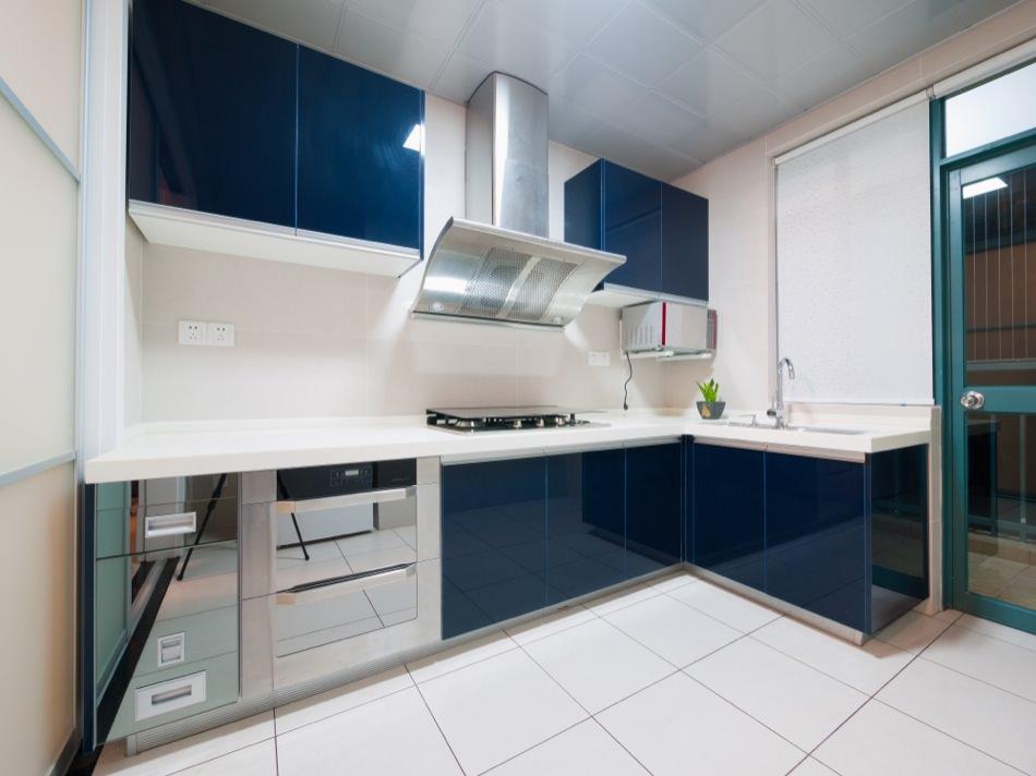 high gloss kitchen cabinets ral 5020 ocean blue - high gloss PZHSWNZ