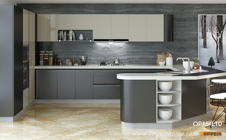 High gloss kitchens contemporary high gloss lacquer kitchen cabinet op15-l10 QDFAIVN