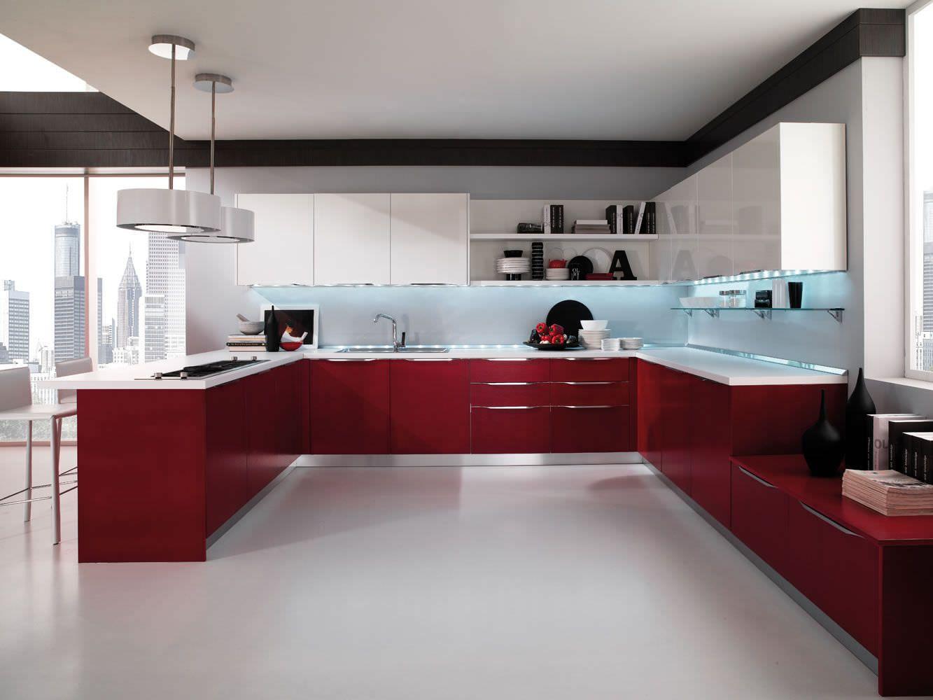 High gloss kitchens contemporary kitchen lacquered high gloss airone torchetti cucine ipc427 - high  gloss KVUGKQV