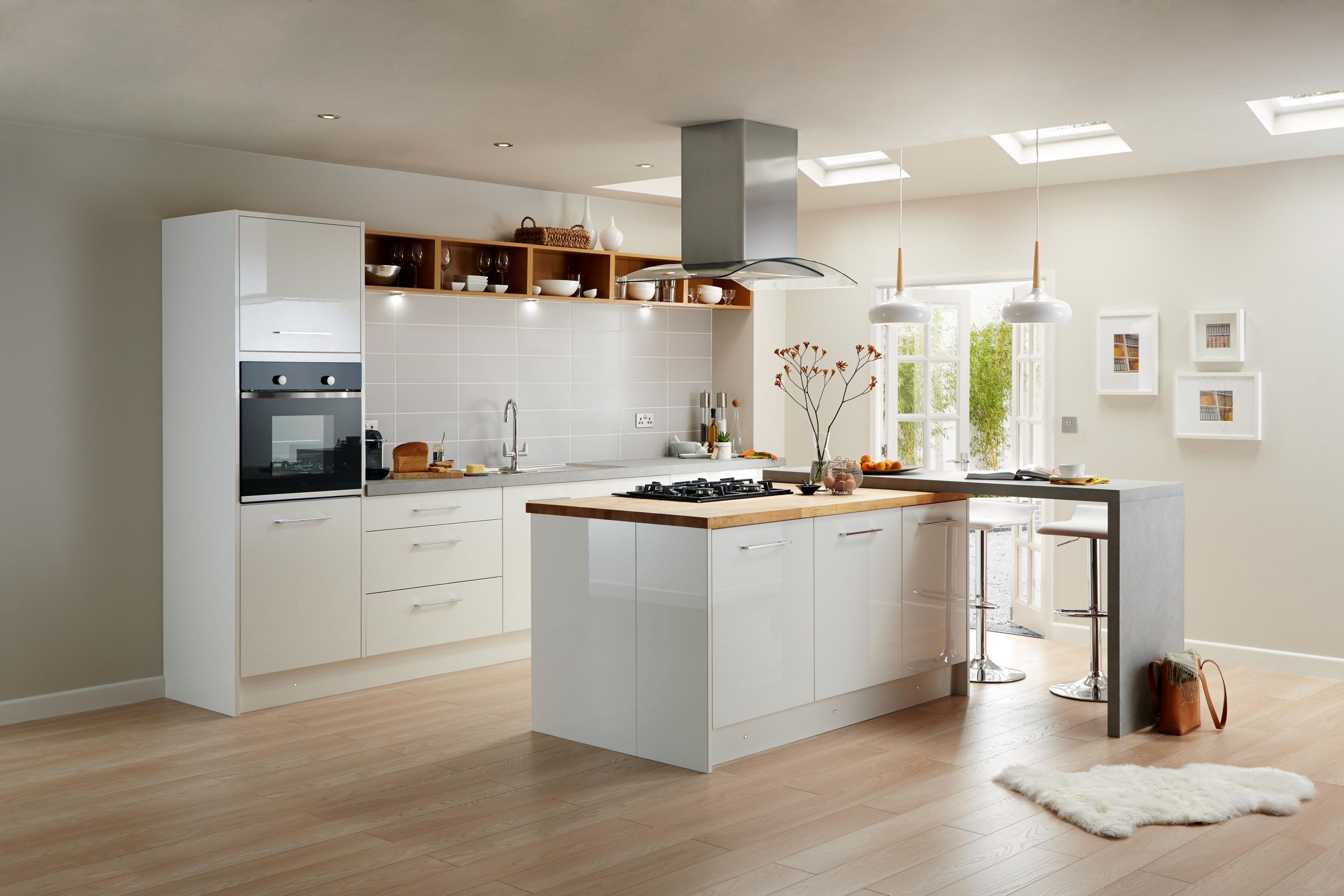 High gloss kitchens cooke u0026 lewis raffello high gloss white slab COUKTVD
