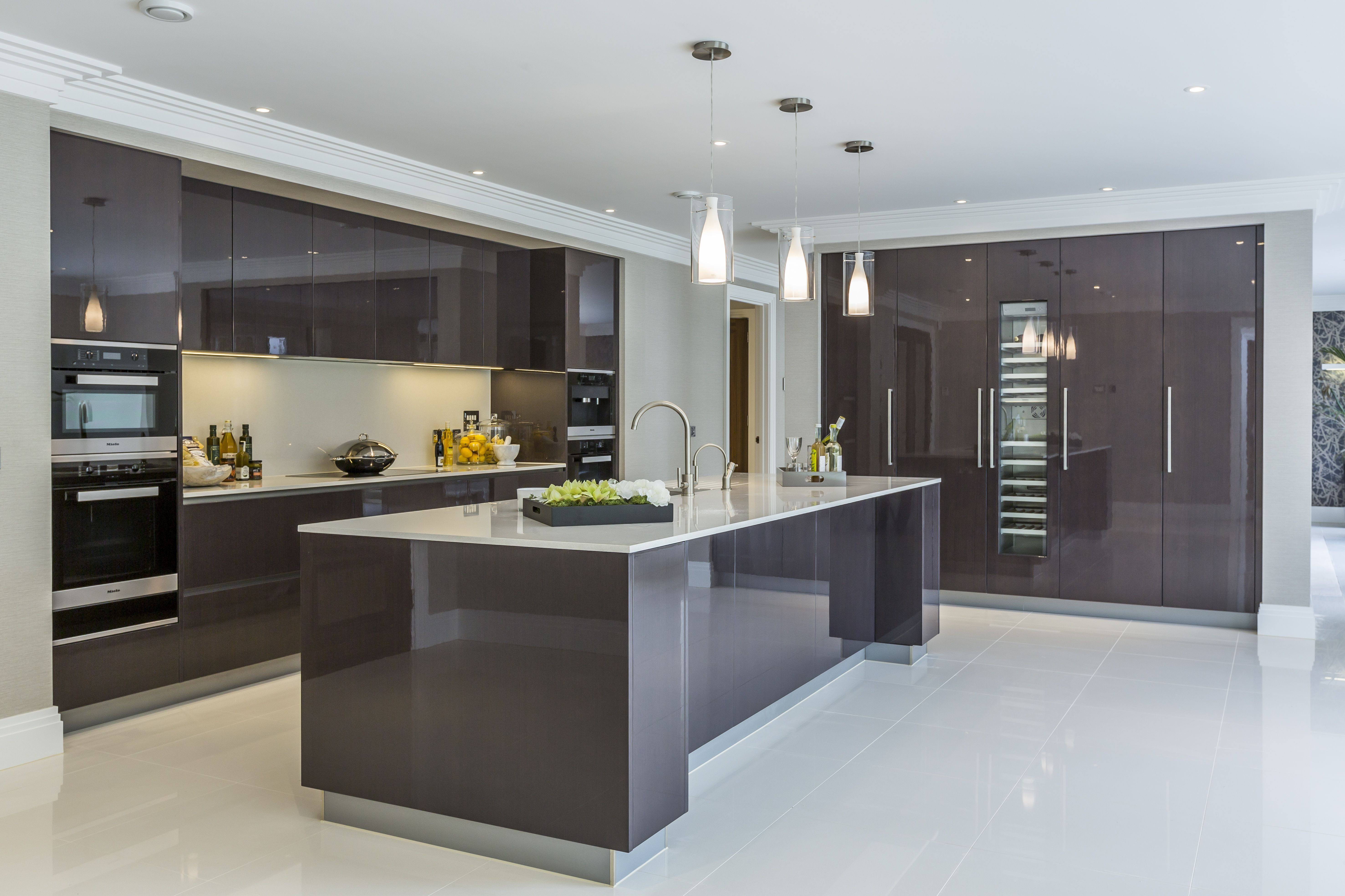 High gloss kitchens extreme contemporary minimal high gloss kitchen design in private mansion. TGPYUOM