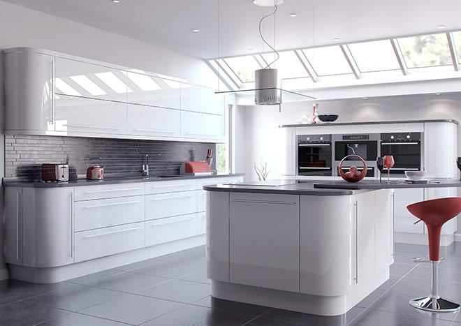 High gloss kitchens high gloss white kitchen doors RKFHBGV